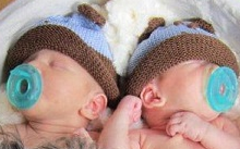 sleeping twin babies